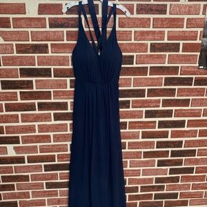 Midnight blue bridesmaid dress